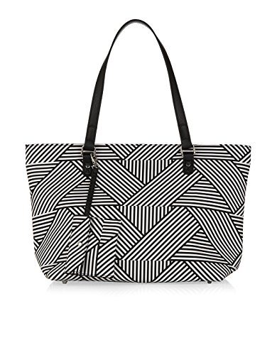 Accessorize Womens Geo Print Isabella Winged Tote Bag