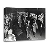 beer artwork - TORASS Canvas Wall Art Print Retro We Want Beer Prohibition Protest Vintage Man Artwork for Home Decor 20