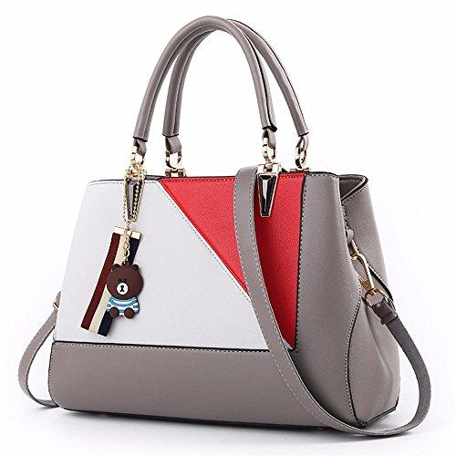 Bag Bolso Mujer Mano Crossbody para gris CCZUIML Negro de SdqPxwd5Y