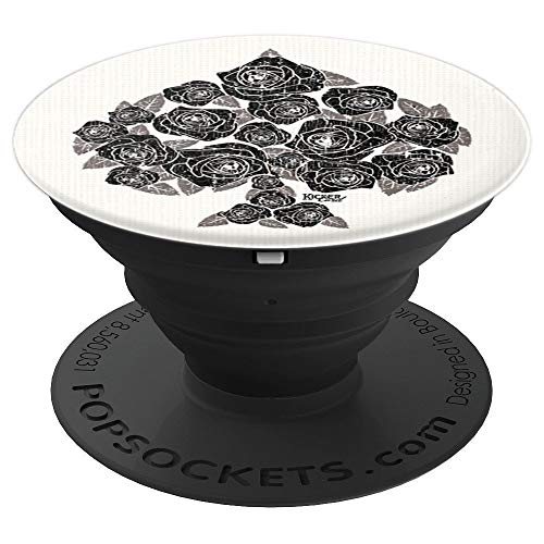 Rose Bouquet Poker Spade  PopSockets Grip and Stand for Phones and Tablets