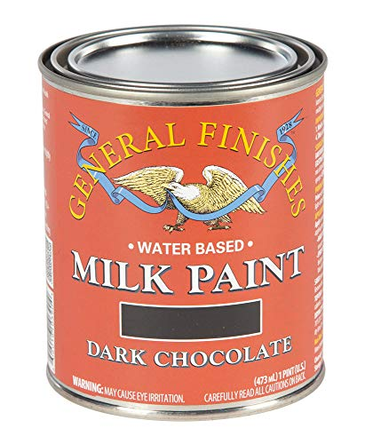 General Finishes PDC Water Based Milk Paint, 1 Pint, Dark Chocolate