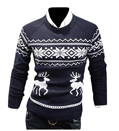 SportsX Mens Casual Printing Pattern Christmas Long Sleeves Knitwear for cheap