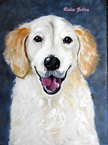 (Pet Portrait Artist Sample of Oil Paints on Canvas)
