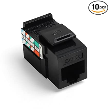 Superb Amazon Com Leviton 5G108 Ae5 Cat 5E 8 Wire Quickport Adaptor Jack Wiring Digital Resources Bemuashebarightsorg