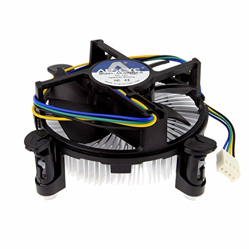 Premium Intel Core i3 / i5 / i7 Socket 1156/1155 / 1151/1150 4-Pin Connector CPU Cooler With Aluminum Heatsink & 3.5-Inch Fan With Pre-Applied Thermal Paste (TS13) by TronStore (Image #1)