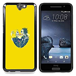 - Yellow Skull Bride Love Spring Funny - - Snap-On Rugged Hard Cover Case Funny HouseFOR HTC ONE A9