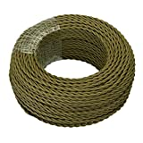 GreenSun LED Lighting 20M Edison Vintage Textile Cable 2 core (2x0,75mm²) Electrical Wire