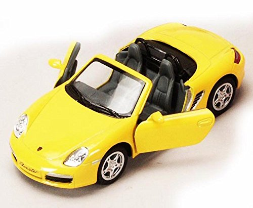 Porsche Boxster S Convertible, Yellow - Kinsmart 5302D - 1/34 scale Diecast Model Toy Car (Brand New, but NO BOX)