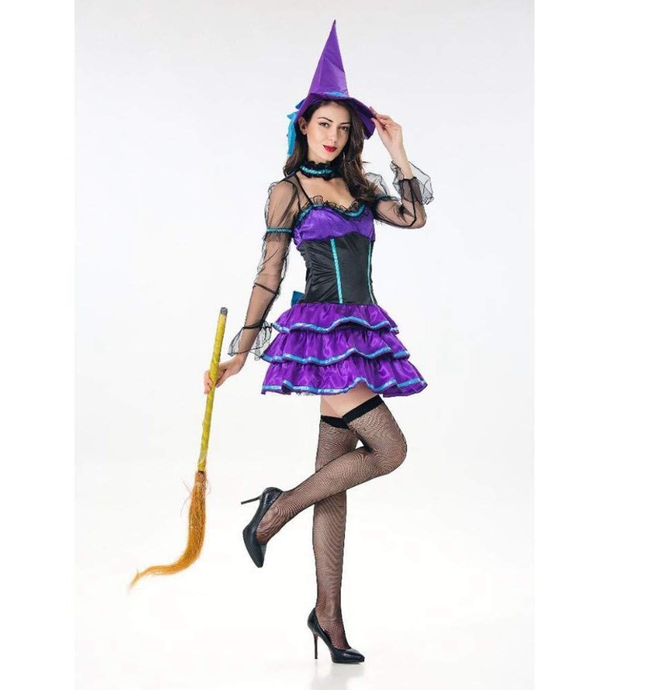 Olydmsky karnevalskostüme Damen Halloween-Kostüm Erwachsene weibliche Hexe Kleid Hexe Hexe Hexe Rock 36d2df