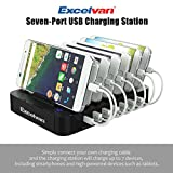 Excelvan Multi-Device USB Charging Station [Quick Charge 3.0] Universal Desktop Tablet & Smartphone Multi-Device Hub Charging Dock for iPhone, iPad, Galaxy, Tablets (7 Ports)