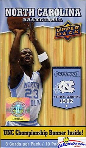 (2010/11 Upper Deck UNC North Carolina Exclusive Factory Sealed Box with Michael Jordan UNC Cards)
