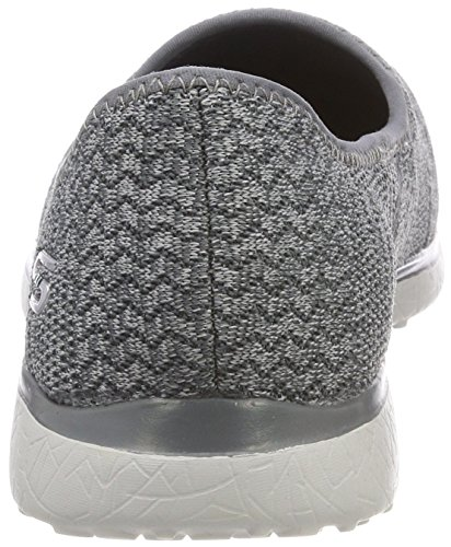 Mine Microburst Grey Gris Skechers Zapatillas para All Mujer 4RBnEw7q