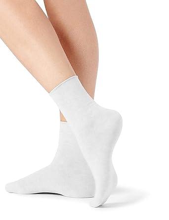 acheter en ligne 5f205 006dd Calzedonia Femme Chaussettes à Bords sans Coutures en Coton ...
