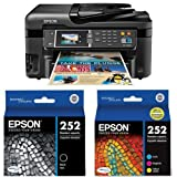 Home and Office Printer - Epson WorkForce WF-3620 WiFi Direct All-in-One Color Inkjet Printer, Copier, Scanner (C11CD19201) and Ink Bundle