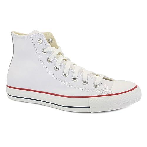 81178830a0acb Converse Chuck Taylor All Star 132169C Zapatillas de Cuero Unisex Blanco -  42œ  Amazon.es  Zapatos y complementos