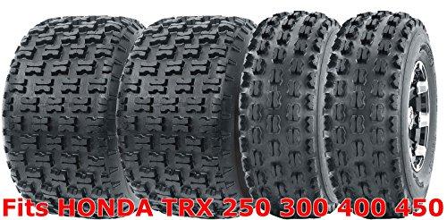 (Full Set WANDA Sport ATV Tires 21x7-10 & 20x10-9 HONDA TRX 250 300 400 450)