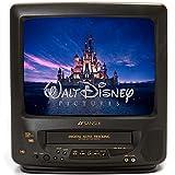 """SANSUI COM3100 13"""" TV/VCR Combo + 12 Disney VHS Movies"""