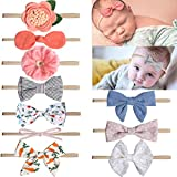 Baby Nylon Headbands Flower Hairbands Small Baby Bows Headbands Hair Accessories for Baby Girls Newborns Infant Toddlers