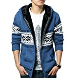 Product review for Dasior Men's Ugly Christmas Cardigan Sweater Winter Warm Coat Hooded