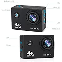 Waxplle Q1 sport camera 4k Underwater waterproof 16MP...