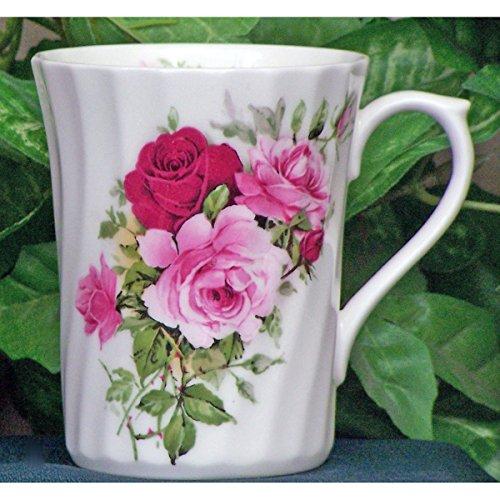 Summertime Rose Bone China - Summertime Rose Fine Bone China Mug - 7oz - Set of 4