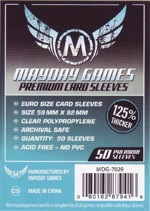 Amazon Com Mayday Premium Euro Sleeves 4 Pack 200 Toys Games