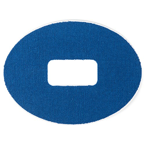 Insulin Life   25 Pack   Oval Dexcom G4 G5 Adhesive Patches    2 Colors Available   Blue