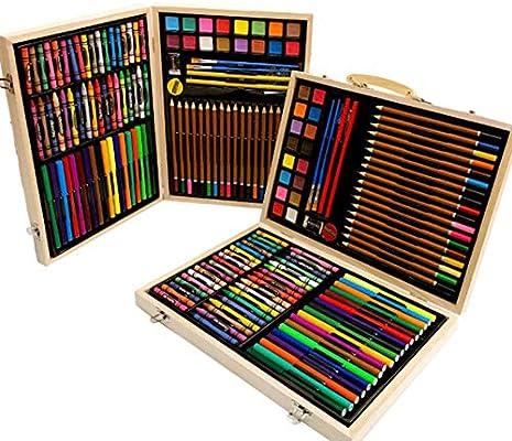 Profesional Lápices De Colores Conjunto 118 PCS Caja De Pinturas De Madera Juego De Bolígrafos De Colores Para Niños De Lujo Accesorios De Arte De Dibujo Para Estudiantes Para Principiantes Y Artistas: