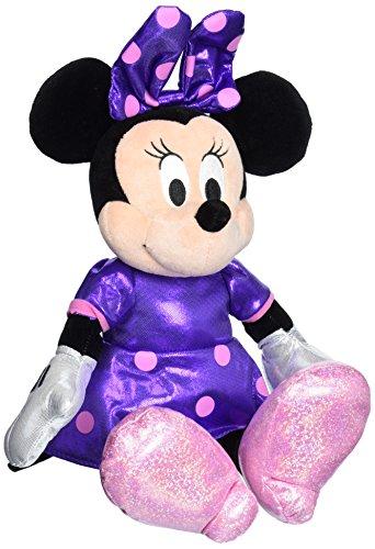 Ty Beanie Buddies Minnie Purple Sparkle Medium Plush