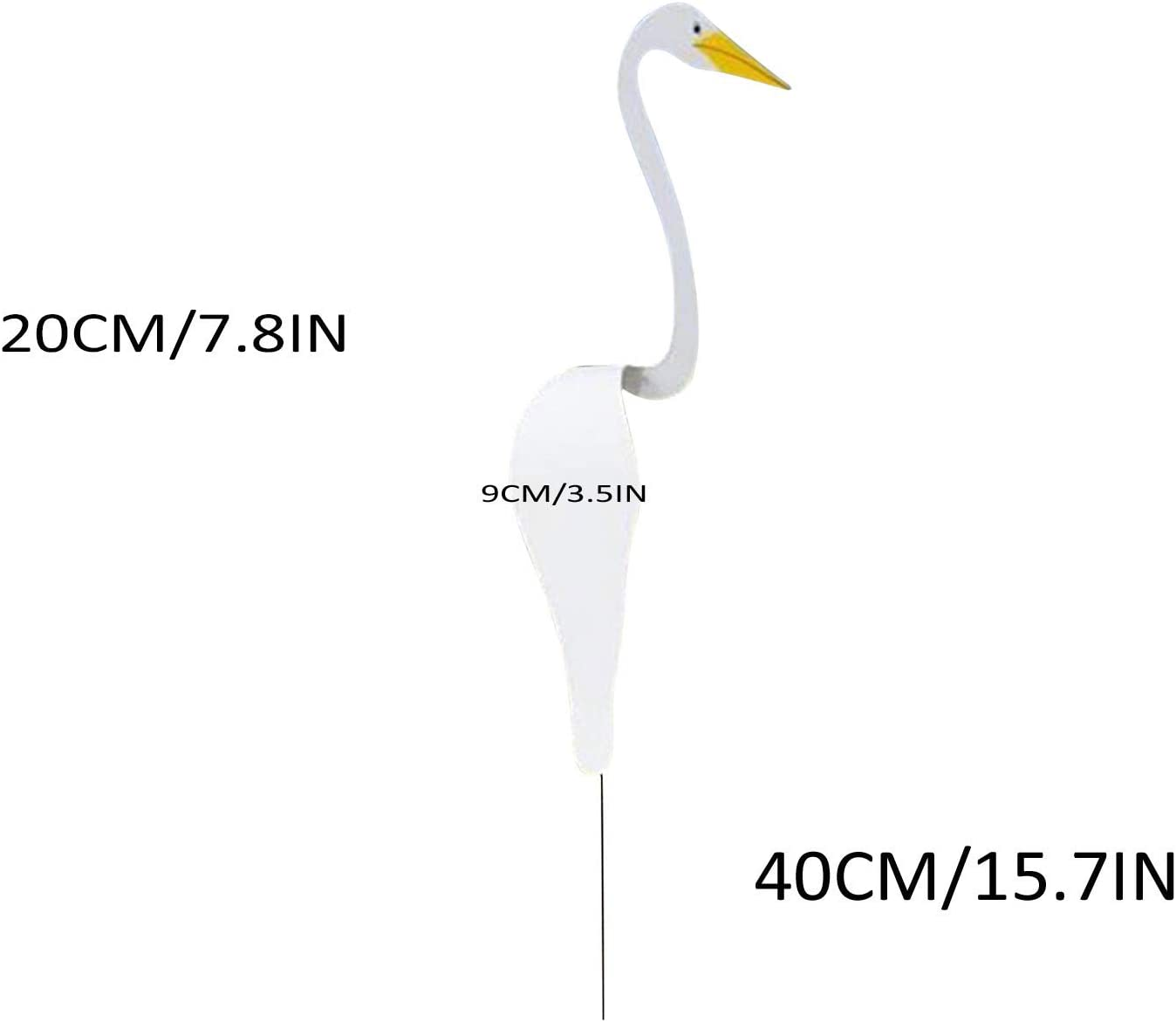 White Flamingo Wind Spinner for Outdoor Yard Art Patio Backyard Decoration KellyKessa Swirl Bird-A Whimsical and Dynamic Bird That Spins with The Slight Garden Breeze,Flamingo Wind Chimes