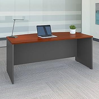Series C 72W X 36D Bow Front Desk In Hansen Cherry