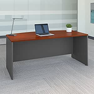 Series C 72W x 36D Bow Front Desk in Hansen Cherry