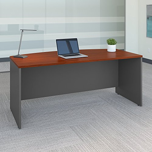 Series C 72W x 36D Bow Front Desk in Hansen Cherry by Bush Business Furniture