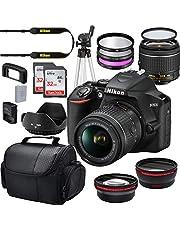 $679 » Nikon D3500 W/AF-P DX NIKKOR 18-55mm f/3.5-5.6G VR Import + Deluxe Starter Bundle Including 2 32GB Sandisk SD Memory Cards, Wide Angle and Telephoto Lens, Gadget Bag Plus More
