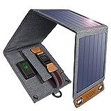 CHOETECH Cargador Solar Plegable, 14W Cargador Externa Portátil con Puerto USB para Samsung Galaxy S9 / S8 / S7 / S7 Edge, Huawei P9, LG G5, iPhone 8/7/7 Plus, iPad Pro/Air/Mini etc