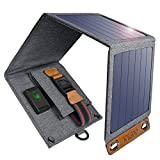 CHOETECH Solar Charger 14W USB Foldable Solar Power Charger SunPower Solar Panel Waterproof Camping, Hiking, Traveling, Compatible iPhone X/ 8/7/6s/Plus, iPad Pro/Air 2/Mini ECT.
