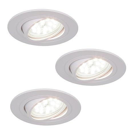 LED empotrado 5w Foco Empotrable Blanco Rendondo Foco empotrado orientable 3 Capas regulable Cubierta De Reflectores
