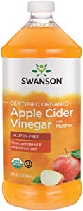Swanson Certified Organic Apple Cider Vinegar with Mother 32 fl Ounce (1 qt) (946 ml) Liquid