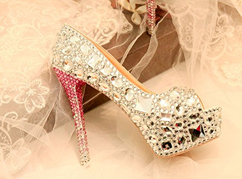 Silver 14cm Heel Argent Minitoo Femme Plateforme qPwtTnHxIn