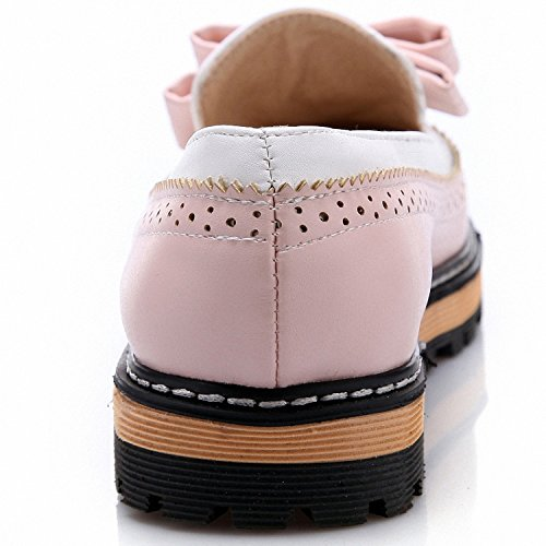 Platform Big Lace On Shoes Shoes Shallow 34 43 Black Mouth Smakke Bow Ladies Flat Slip Women With Bowtie Cute Autumn Spring Size Tv0Oxd