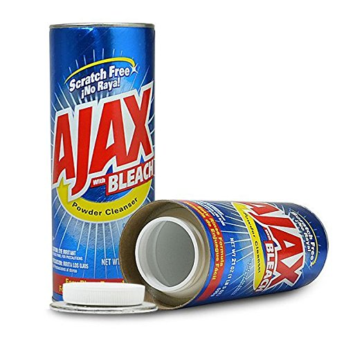 Ajax Powder Cleaner Safe Can Diversion Container+Free Pack of 1 1/4 Rasta Wrap