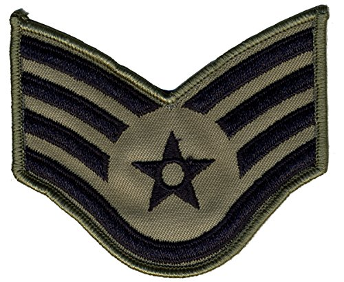 Air Force Chevrons for ABU Uniform-PAIR-LARGE OR SMALL (LARGE, SSGT)