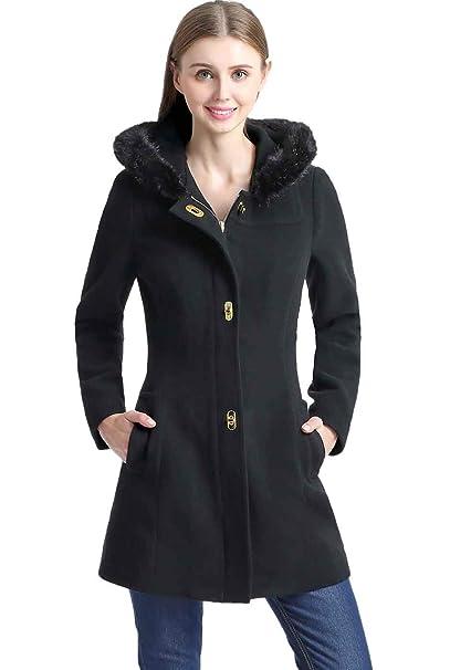 d8b3b9c08 BGSD Women's Lana Wool Blend Hooded Parka Coat (Regular Plus & Short)