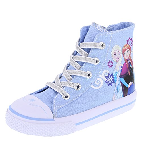 Frozen Girl's Blue Toddler High-Top Sneaker Little Kid Size 11 Regular
