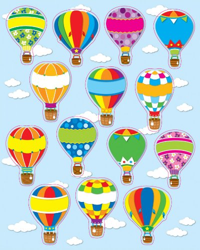 Carson Dellosa Hot Air Balloons Shape Stickers (168064) -