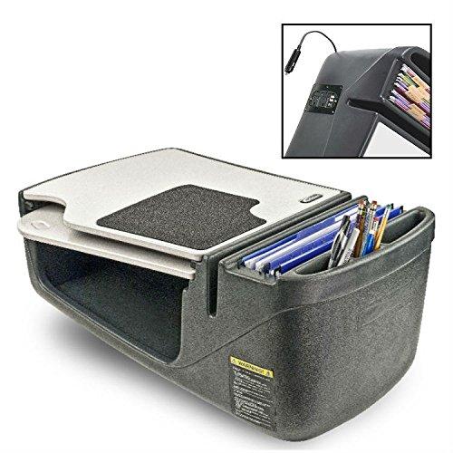 AutoExec GripMaster Versatile Portable Car Seat Desk with 200 Watt Inverter - 11007 with Free Ergonomics eBook Autoexec Gripmaster Car Desk