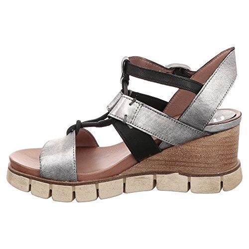 Mjus 825004 0201 - Damen Schuhe Sandaletten - 0001-argento-nero