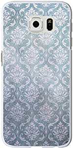 S6 Edge Case Samsung Galaxy S6 Edge Cover grey flower pattern sale on ZENG Case