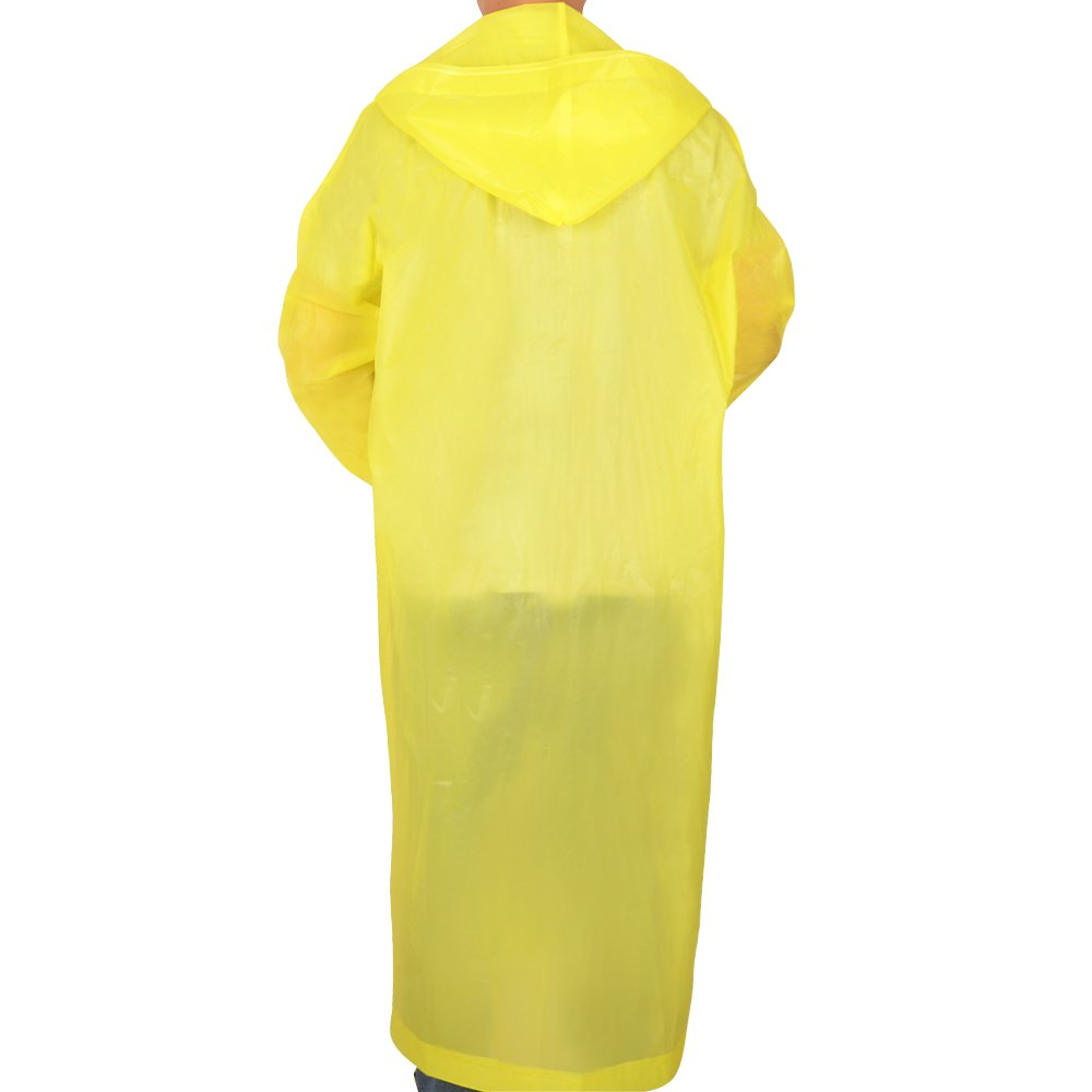 Alotpower Lightweight Compact Emergency Poncho for Theme Parks, Trip, Camping or School Events,Yellow