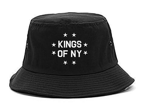 Amazon.com  Kings Of NY KONY Stars Circle Streetwear Bucket Hat ... aad521e7763